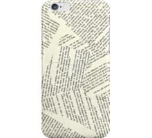 Book Paper Background  iPhone Case/Skin