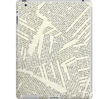 Book Paper Background  iPad Case/Skin