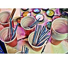 Cups of Color 1 Photographic Print