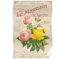 Vintage French Flower Shop 3 Poster