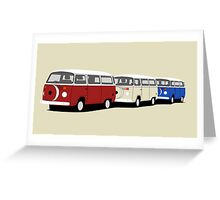 Volkswagen Campervan T2 Group Greeting Card