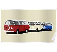 Volkswagen Campervan T2 Group Poster
