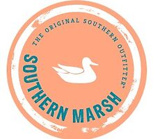 Peach Southern Marsh Logo by Jensen Gill