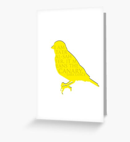 i am the canary Greeting Card