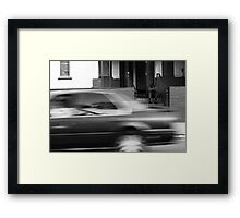 I Did Not Notice The Passersby And They Did Not Notice Me Framed Print