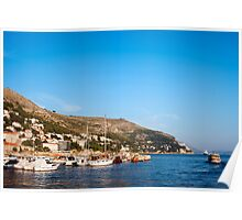 Dubrovnik Marina and Bay Poster