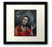 Holy Smoke Framed Print