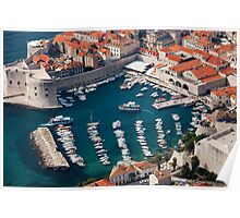 Marina and Old City of Dubrovnik Poster