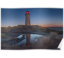 Safe Haven - Peggy's Cove Lighthouse Poster