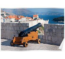 Medieval Cannon in Fort Lovrijenac Poster