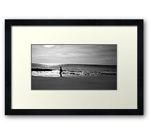 Woman on Beach Framed Print