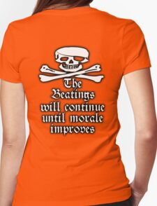 Pirate, Morale, Skull & Crossbones, Buccaneers, WHITE on RED T-Shirt
