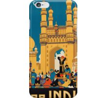 Vintage poster - India iPhone Case/Skin
