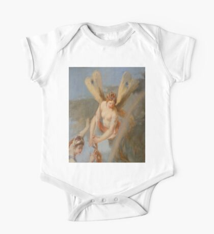 Hairdresser, Hair dressing Angel, Angel with wings, cutting hair, Church, St Petersburg Russia.  One Piece - Short Sleeve