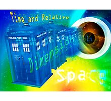 TARDIS Time and Relative Dimension in Space Photographic Print