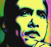 PRESIDENT BARACK OBAMA-POP ART by OTIS PORRITT