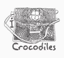 I LOVE CROCODILES T-shirt One Piece - Short Sleeve