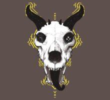 Demon Dog Skull by Monica Diaz