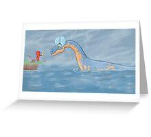 Lake Creature Greeting Card