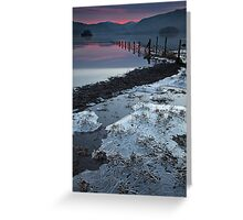 Sunset over the Jaws of Borrowdale Greeting Card