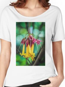 Hanging Flowers with Green Bokeh Women's Relaxed Fit T-Shirt