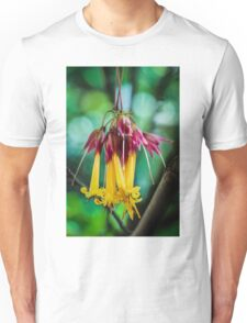 Hanging Flowers with Green Bokeh Unisex T-Shirt