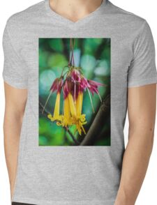 Hanging Flowers with Green Bokeh Mens V-Neck T-Shirt