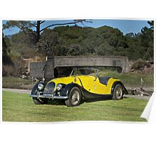 Vintage Morgan Sports Car Poster