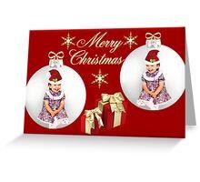 ツ SMILES MERRY CHRISTMAS ツ Greeting Card