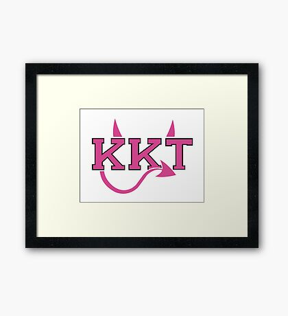 KKT Sorority Framed Print