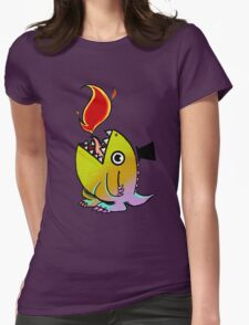 Dopey Dino Womens Fitted T-Shirt