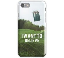 I Want To Believe TARDIS iPhone Case/Skin