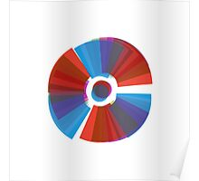 Abstract Colour Wheel Poster