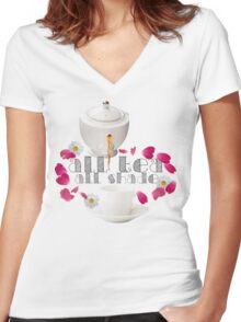 All Tea, All Shade Women's Fitted V-Neck T-Shirt