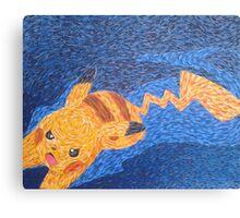 Pikachu Van Gogh Canvas Print
