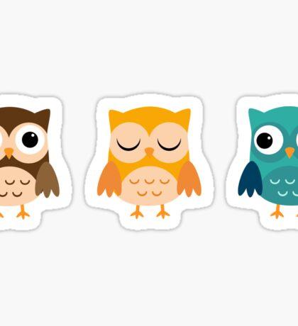 Cute Owls Chibi Sticker