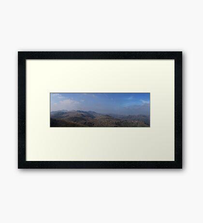 Lake District Panorama Cumbria Framed Print