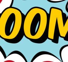 Boom Typography Comic Sticker