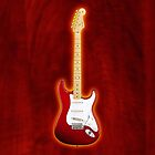 Red american fender Stratocaster v2 iphone case by goodmusic