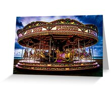The Mystical Dragon Chariot Greeting Card