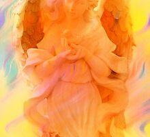 Angel Of Peace Holding Dove by Marie Sharp by Marie Sharp