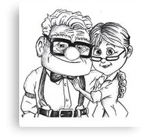 Ellie and Carl Fredricksen Story Love  Canvas Print