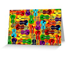 VIOLINS ALL OVER Greeting Card
