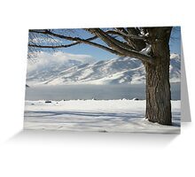 Snowy Lake Greeting Card