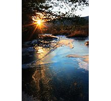 River Ice at SunDown Photographic Print