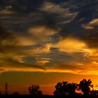 October Sunset in Kansas by kgarlowpiper