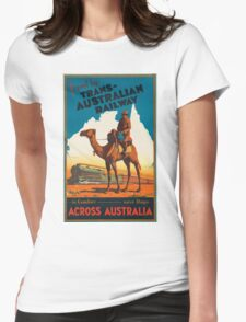 Vintage poster - Australia Womens Fitted T-Shirt