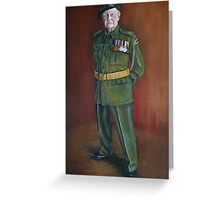 ANZAC Portrait Series - Reg Davis  Greeting Card