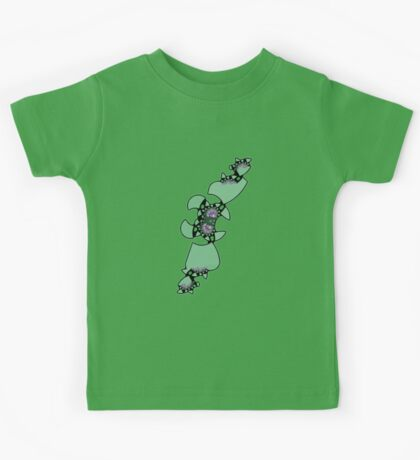 Geek style flying fractal pattern design I Kids Tee
