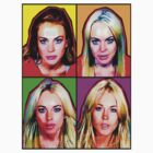 Lindsay Lohan POP ART MUGSHOTS by lilolover